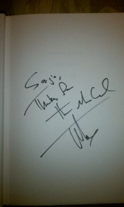 Signed by Tucker Max