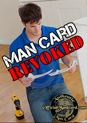 Man Reading Instructions Gets His Man Card Revoked