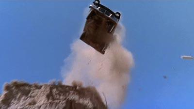 Car Drives Off Cliff