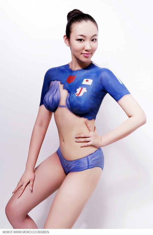 Female Body Paint Boobs