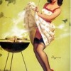 Sexy Pin Up Grilling