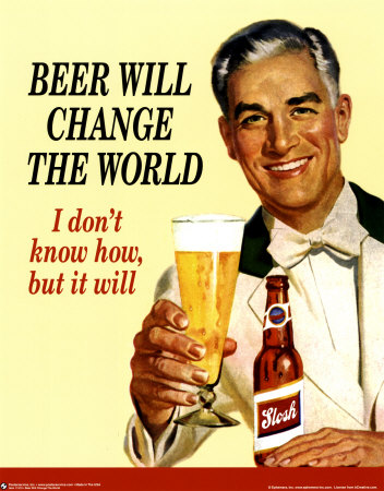 Beer Changed the World 1950s Poster
