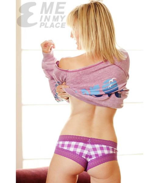 Alison Haislip Taking off shirt