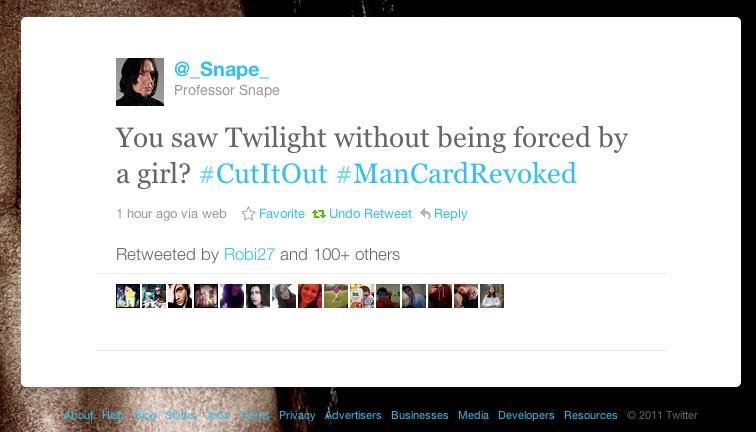 Snape #ManCardRevoked